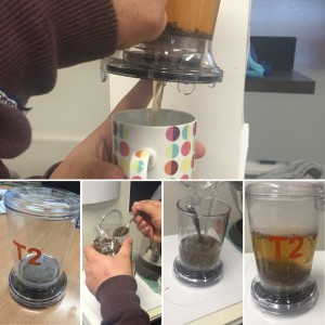 It's all about the brew! Using the T2 teapot to try out our new treat.
